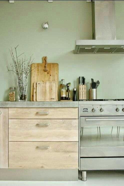 Beautuful Green And Grey Keuken Idee Kleurrijke Keukens Gerenoveerde Keuken