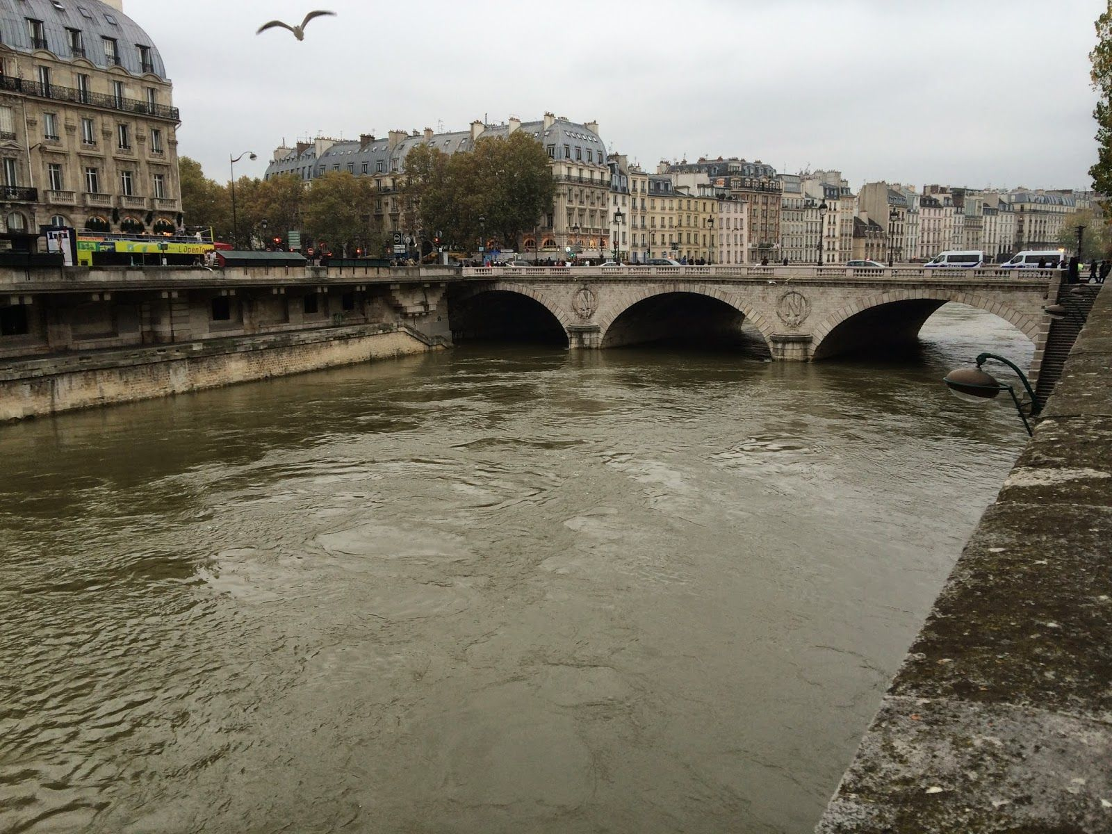 pont d'Arcole to Île de la Cite´ an island in the middle of the Seine River the houses the breath taking Notre Dame Cathedral. thrifty chic LA | life + travel + style: Walking through Paris