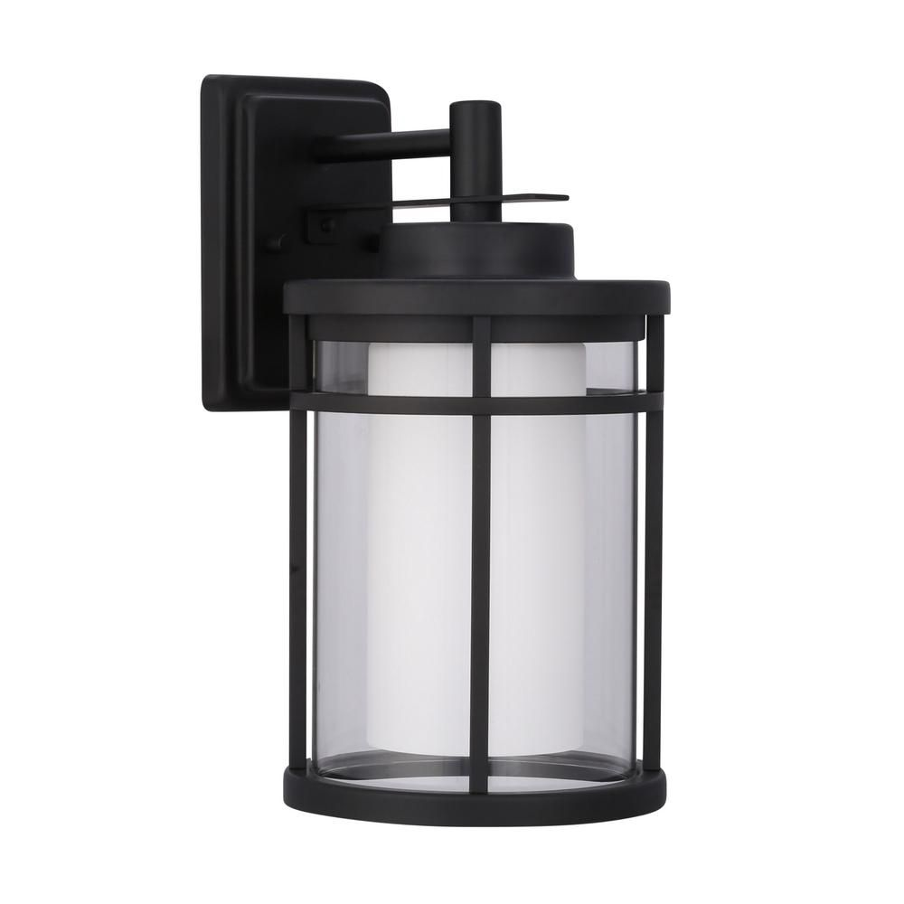 Black outdoor led medium wall light curb appeal cabana and lights