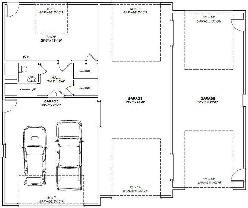 60x50 House -- 3-Bedroom 2.5-Bath -- 1,703 Sq Ft -- PDF