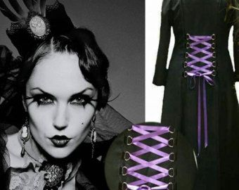 Gothic corset laced front soft velvet top with by BohoGypsyCouture