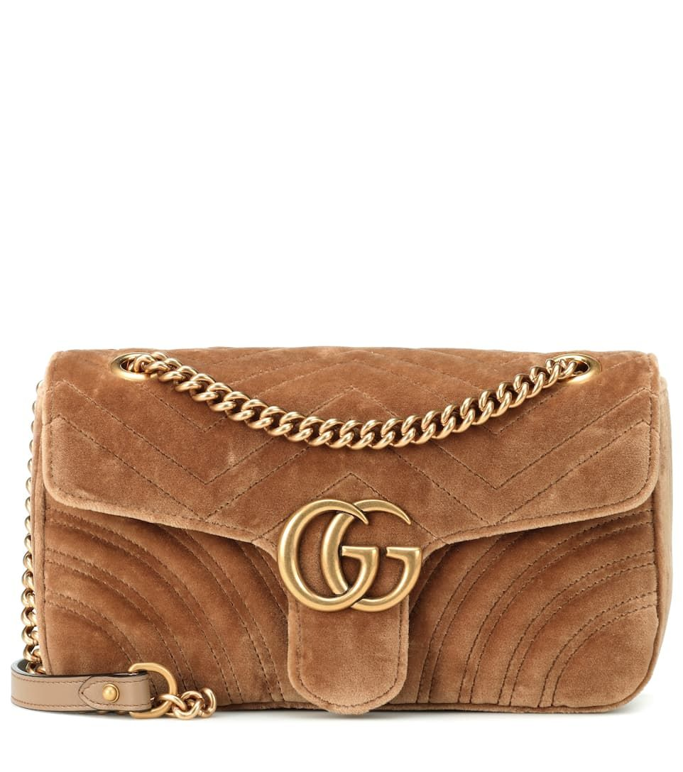 56b22467e50 Gg Marmont Small Velvet Shoulder Bag - Gucci