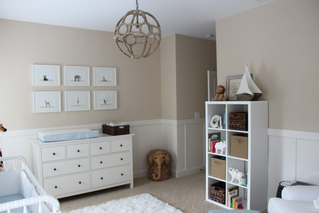 7 Inspiring Kid Room Color Options For Your Little Ones: Beige And White Neutral Nursery For Baby Boy