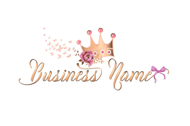 Custom Logo Design Pink gold Logo Premade Logo Design