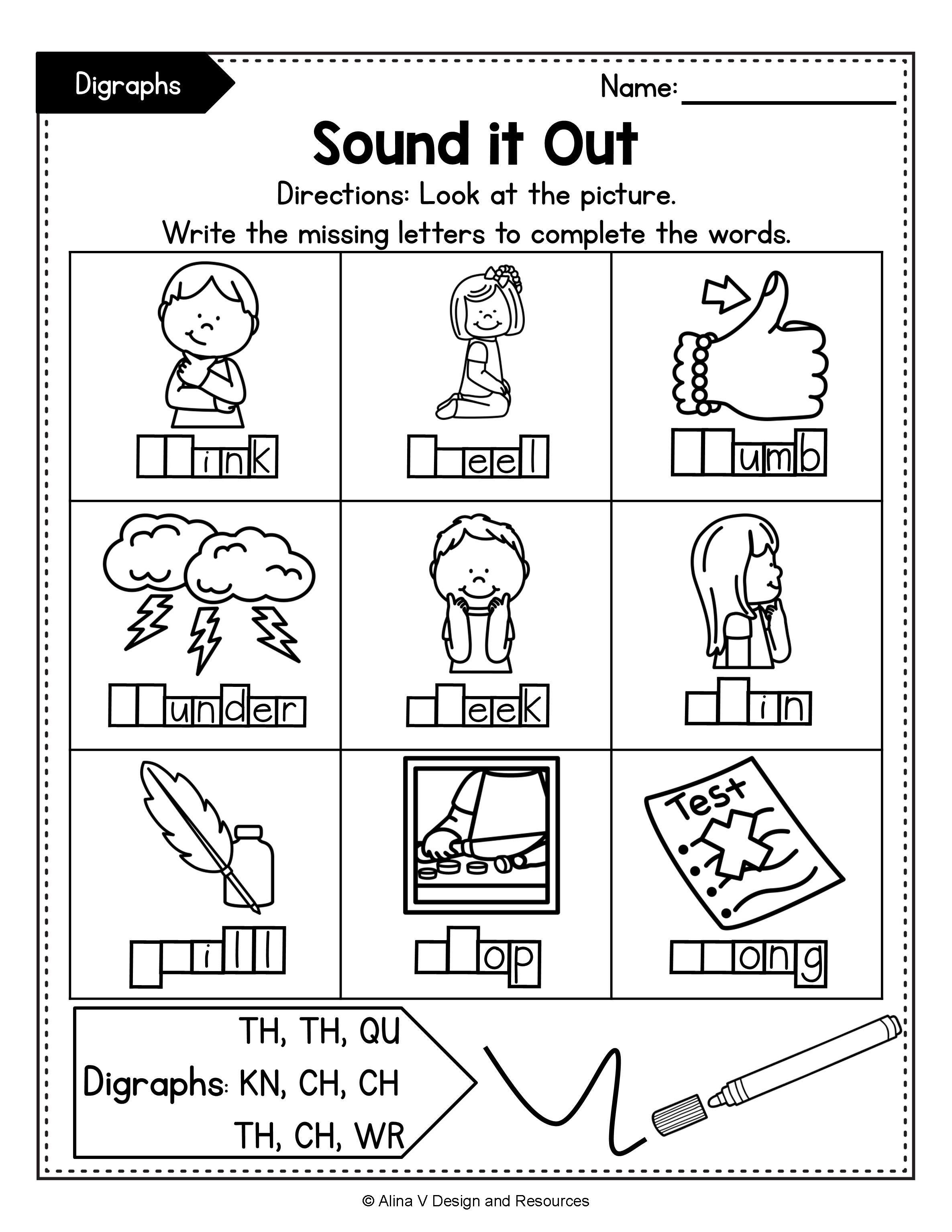 Consonant Digraphs Worksheets Sh Ch Th Wh Ph Kn Wr Qu Mega Bundle In 2020 Phonics Activities Digraph Phonics Kindergarten