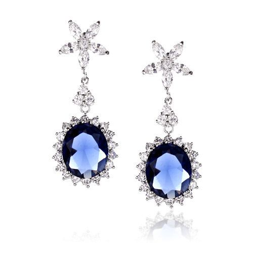 Chantilly Sapphire Earrings - Kate Ketzal Jewellery & Adornments