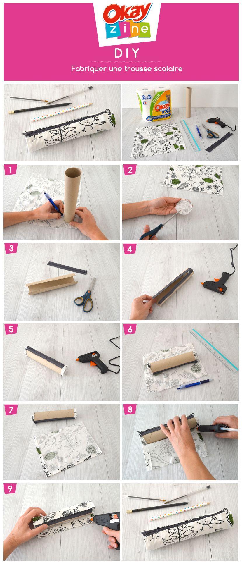 Comment Fabriquer Une Trousse En Tissu Trousse Scolaire Comment Fabriquer Un Diy Trousse