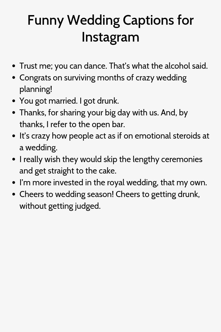 Funny Wedding Captions For Instagram2 Wedding Captions Instagram Quotes Captions Instagram Captions