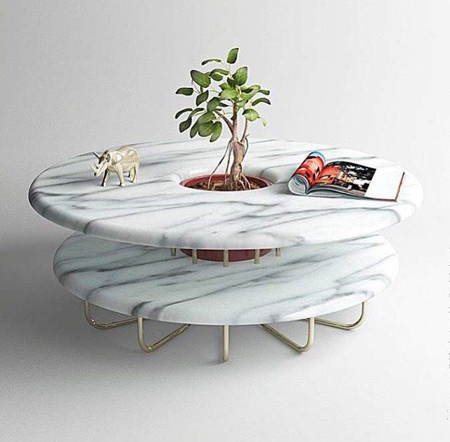In Love With This Two Tier Marble Table Via Hip Icon Table Design Furniture Marble Furniture Granite Furniture Marble Tables Design