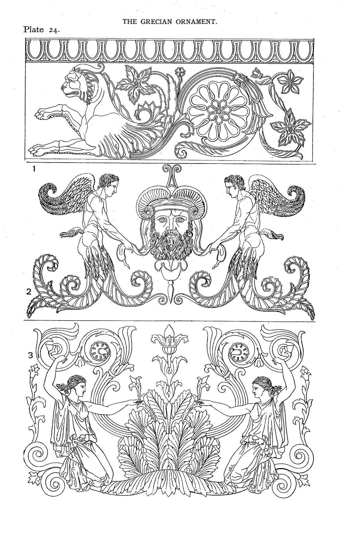 Decorative Arts Styles Of Ornament Exhibited In Designs And Arranged In Historical Order With Descriptive Text The G Greek Drawing Greek Art Medieval Art