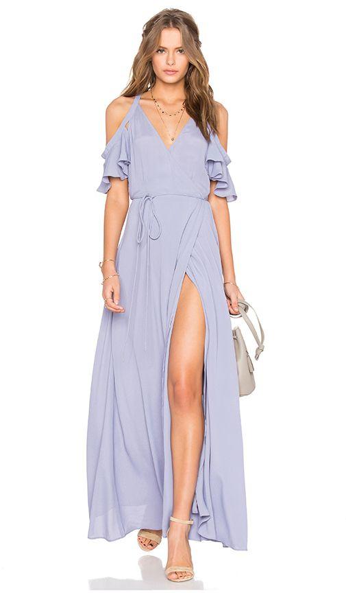 995faa0ecd Soft blue boho maxi dress for summer. Compra Privacy Please VESTIDO ...