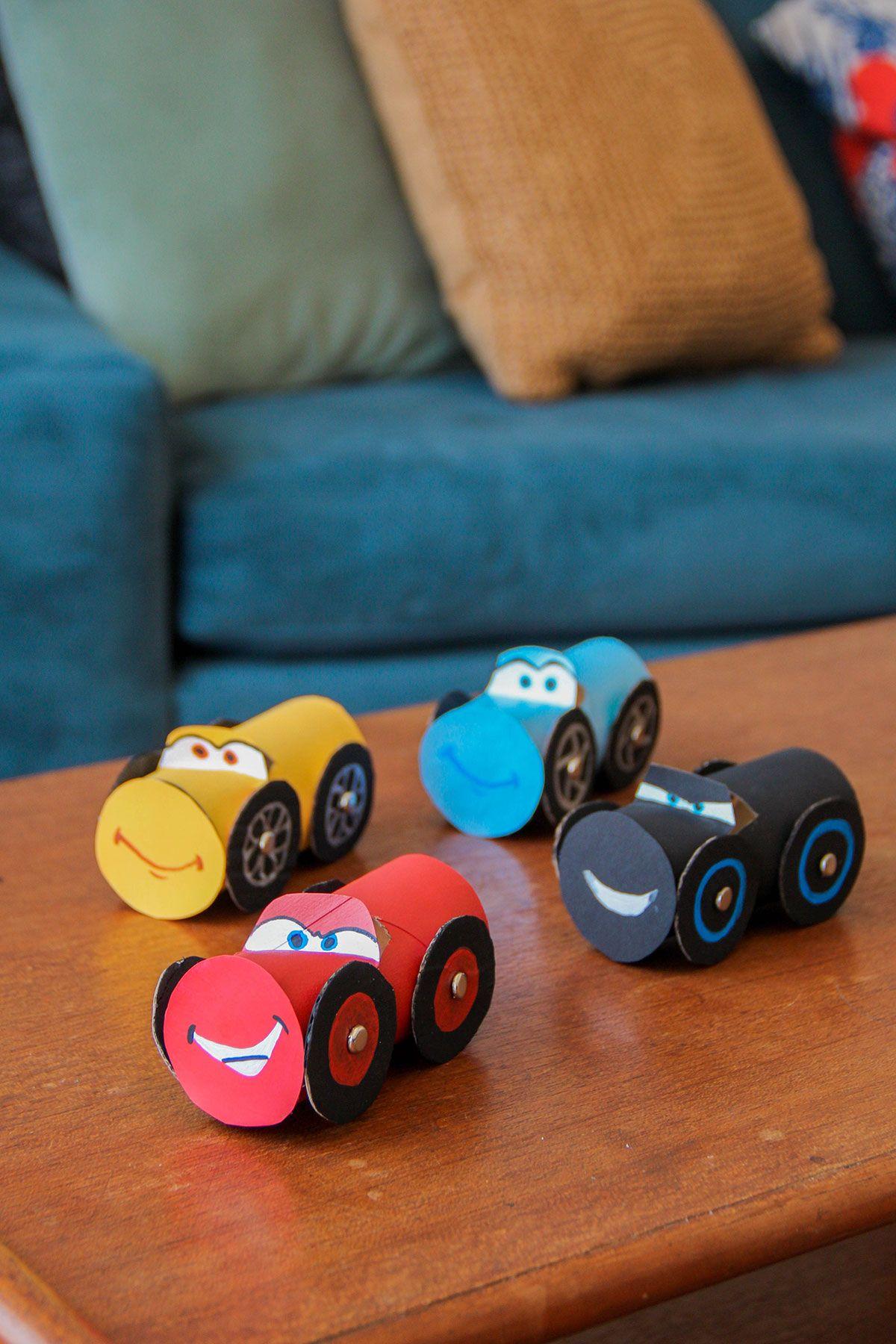 Car 3 toys  Cars  Cardboard Craft For This DisneyWeekend  crafts  Pinterest