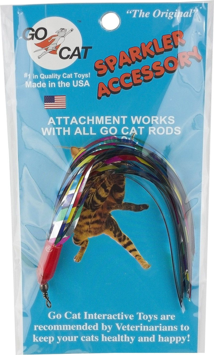 Keep The Fun Going With The Go Cat Da Bird Sparkler Teaser Wand Replacement Cat Toy Because Let S Face It Your Cat Is Going To Cat Toys Quality Cat Sparklers