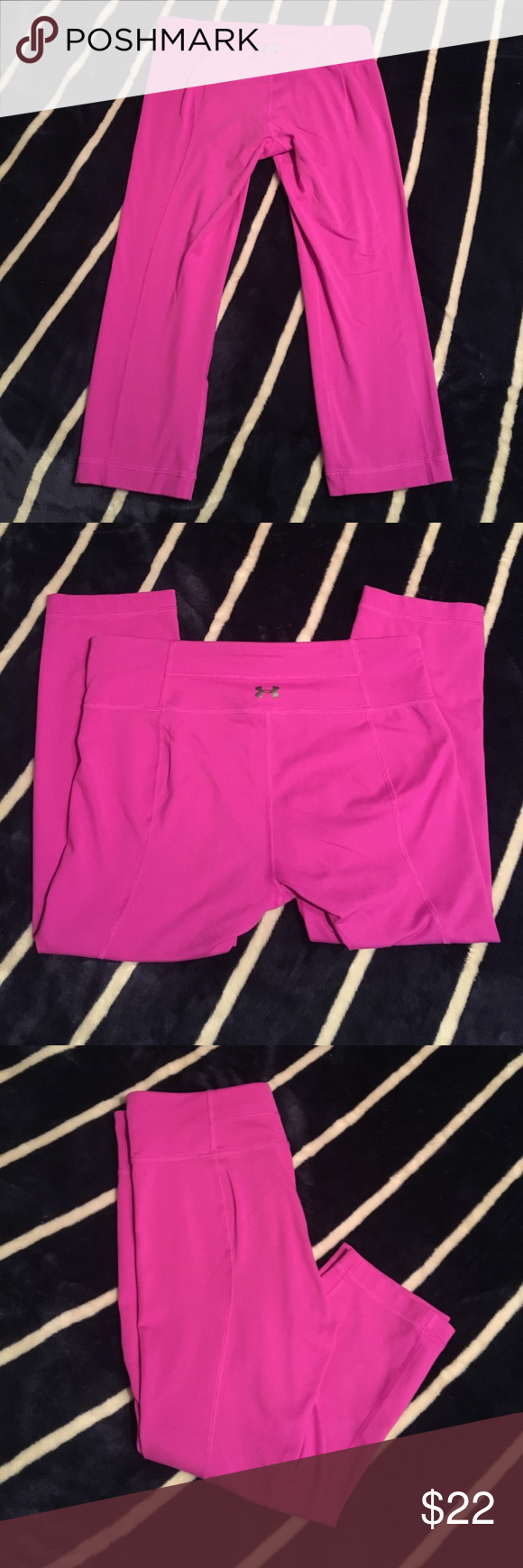 Under Armour Studio Capri Leggings. Size Small. Purple/Pink UA Studio Capri Leggings. Size Small. Perfect Condition. Very soft! Feels very similar to lululemon! Fits sizes 2-4 Under Armour Pants Leggings