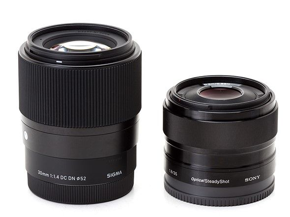 Sony Mirrorless Sigma 30mm F1 4 Dn Dc Contemporary Vs Sony 35mm F1 8 Oss Photography Gear Photography Equipment Lens