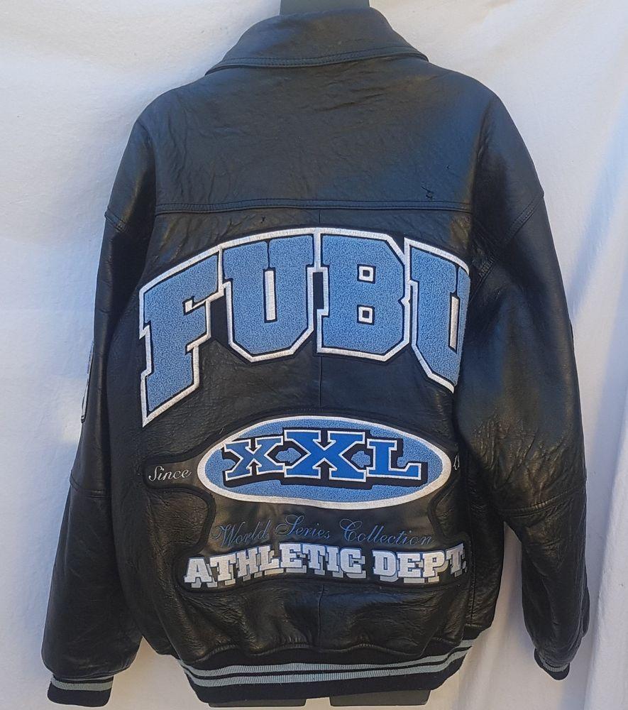 World Series Collection Leather Fubu Hip Hop Jacket Size L Varsity Vtg Athletic Fubu Baseball Hip Hop Jacket Leather Jacket Style Leather Varsity Jackets [ 1000 x 885 Pixel ]