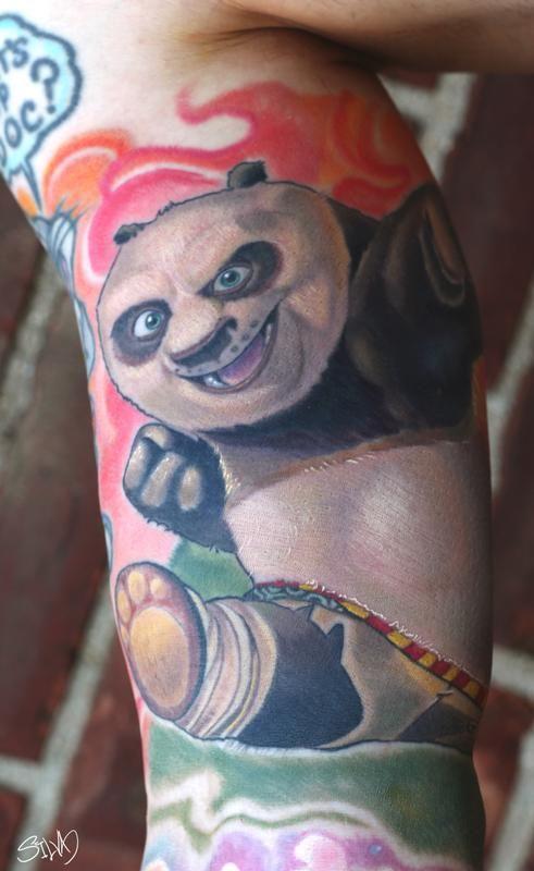 kung fu panda tattoo by marvin silva tattoonow new school panda tattoo pinterest tattoo. Black Bedroom Furniture Sets. Home Design Ideas