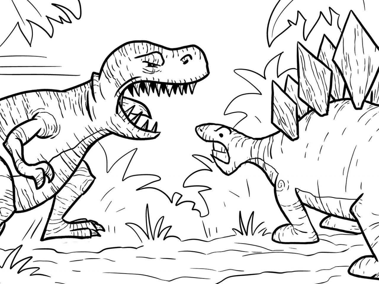 Раскраска всех динозавров