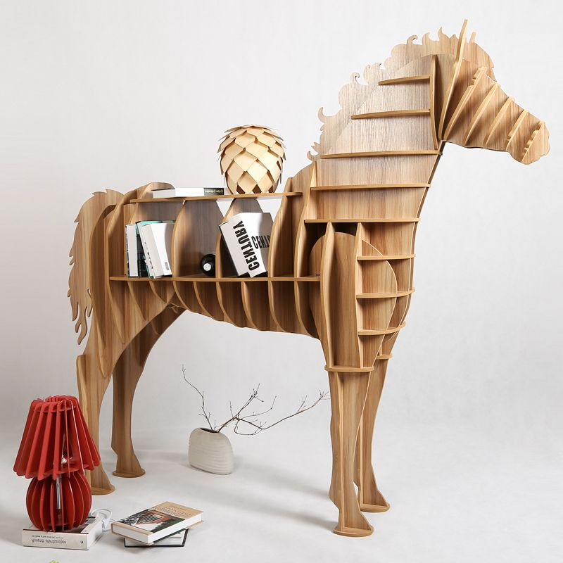 Cheap Bookshelf Home, Buy Quality Bookshelf Wall Directly From China  Bookshelf Table Suppliers: 8 Colors Horse Table Animal Furniture DIY  Creative Wood ...