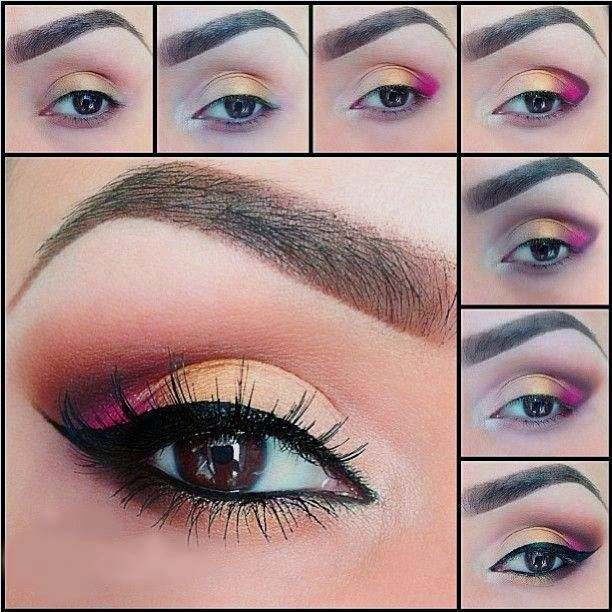 maquillaje paso a paso colores rojizos - Como Maquillarse Paso A Paso