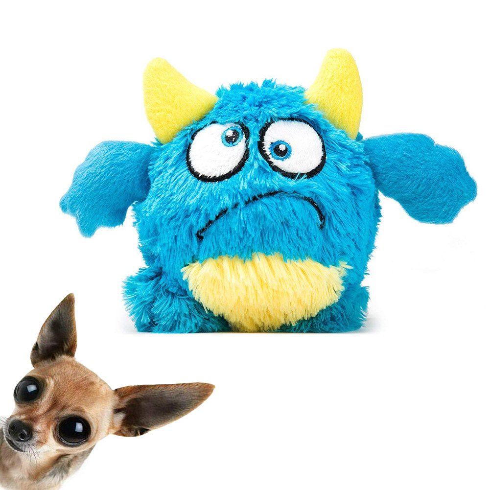 Neilden Dog Plush Ball Toys Durable Squeaky Plush Doll Stuffed Animal Toy Interactive Shake Plush Pet Toys Bouncer Dog Toys Exercise Entert Dog Toys Pet T