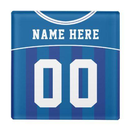 Name Number Jersey Coaster Soccer Football Glass Coaster Zazzle Com Home Decor Glass Coasters Custom Sports Jerseys Coasters