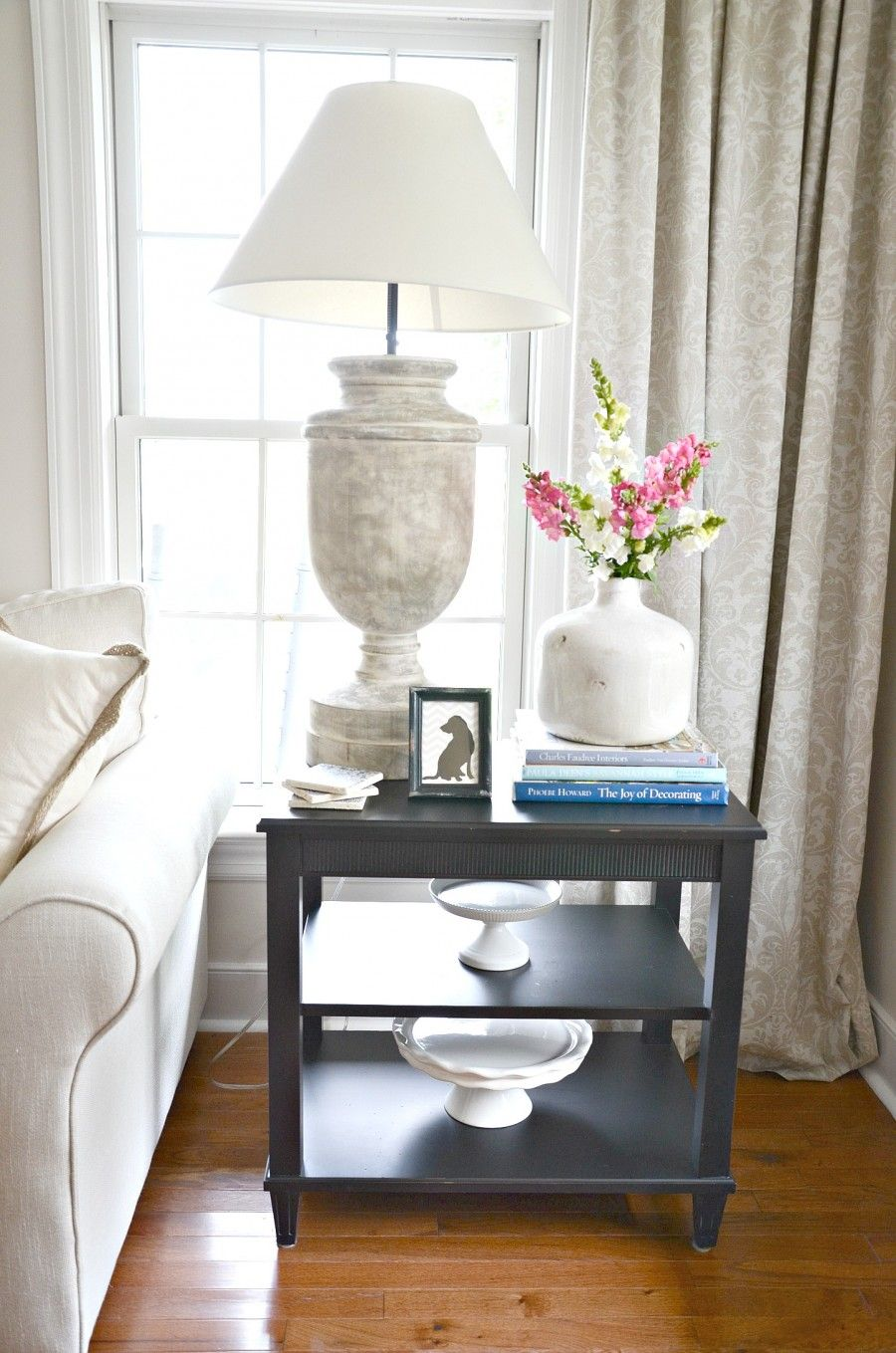 How To Style An End Table Like A Pro Stonegable Living Room End Table Decor Table Decor Living Room Living Room End Tables