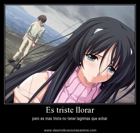Frases Tristes Anime Desmotivaciones Frases Anime Y Triste