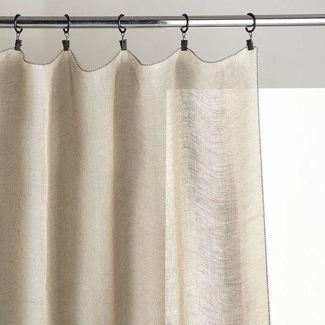Rideau voile de lin noctuelle rideau rideaux voilage et rideaux lin for Voile et rideaux