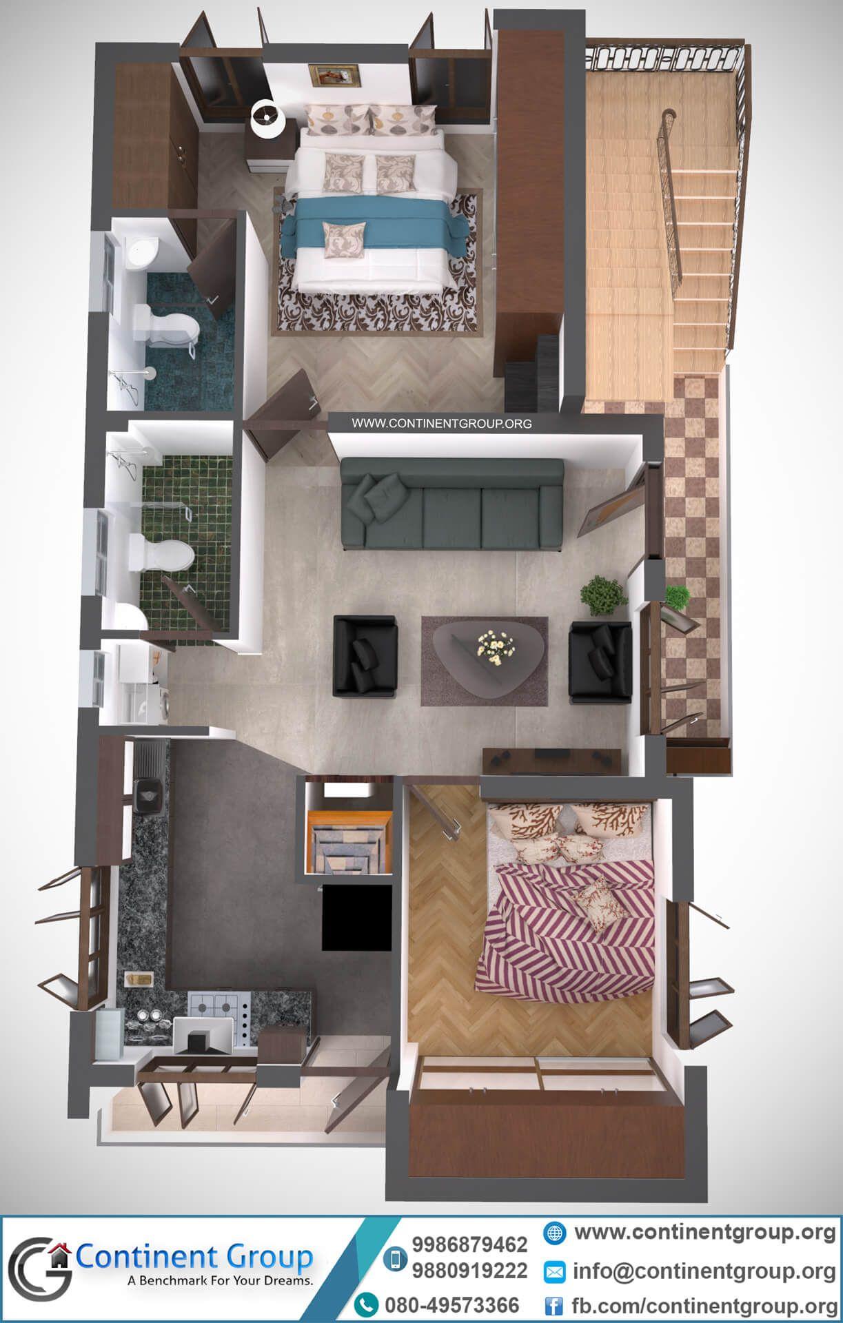 3d floor plan service in Bangalore House front design