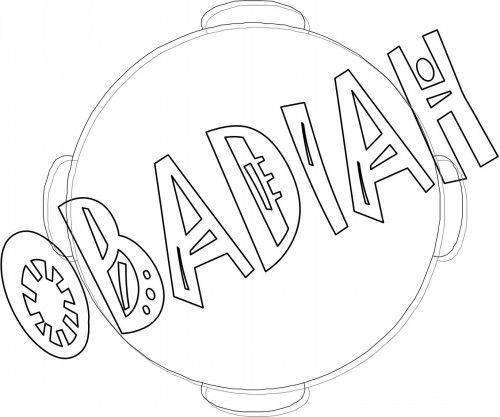 Bible Coloring Pages For Kids Free Printable Books Of The Obadiah