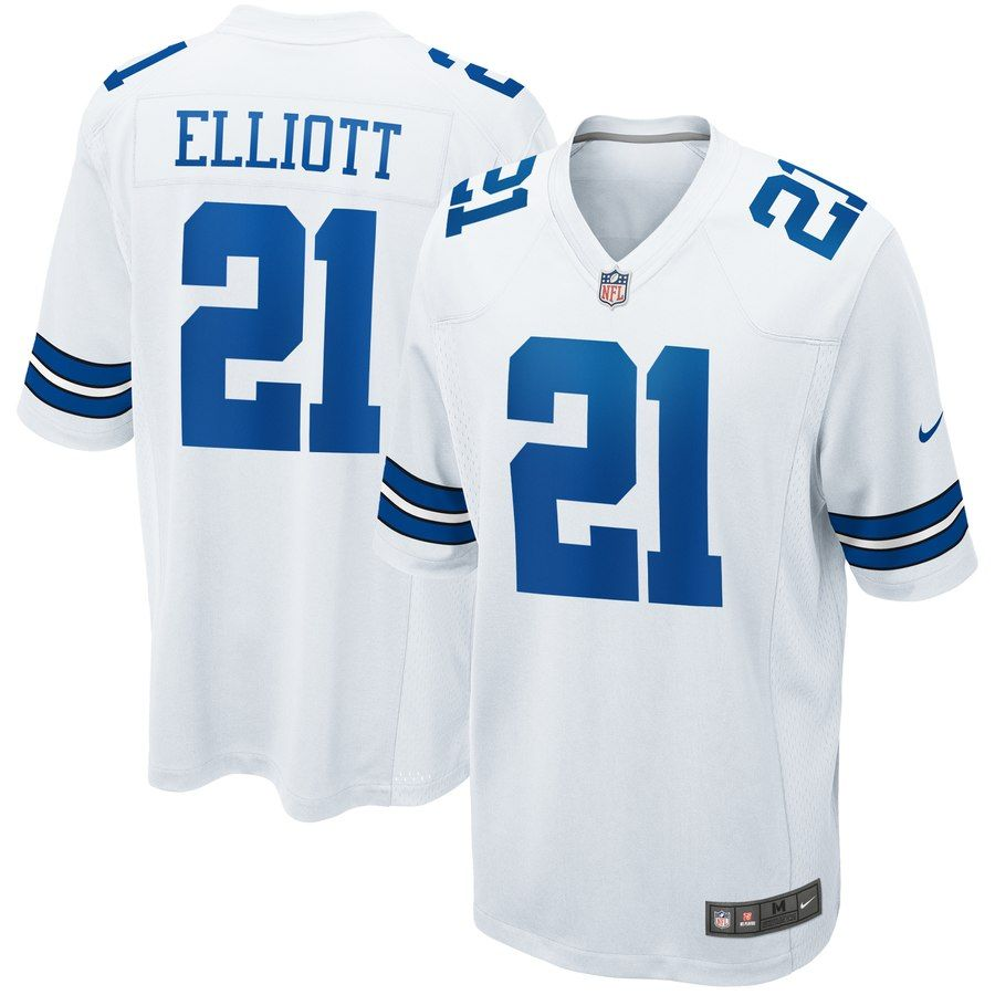 pretty nice be73c 6a073 Men's Dallas Cowboys Ezekiel Elliott Nike Navy Game Jersey ...