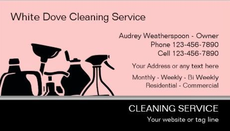 Modern Pink and Black Cleaning Supplies Silhouette Cleaning ...