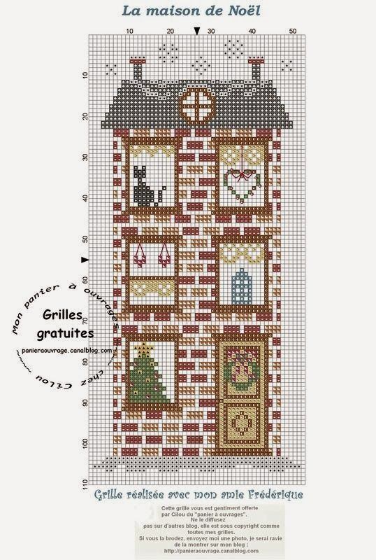 Punto Cruz Costa Motivos navideños para Punto Cruz cajas