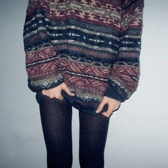 cardigan sweater jumper vintage winter cute warm cozy oversize ...