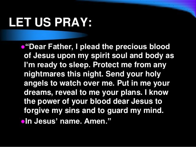 Prayer for protection from nightmares | ANGELS & PRAYERS