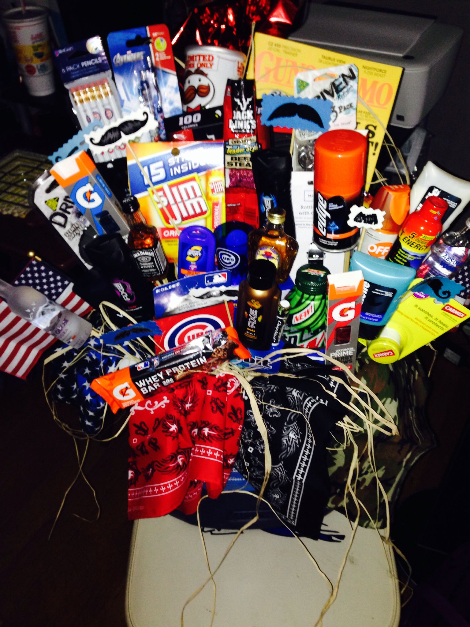 Man basket for my boyfriends brother in the army