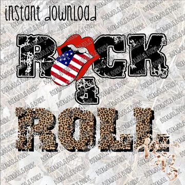 Rock and Roll INSTANT DOWNLOAD print file PNG in 2020