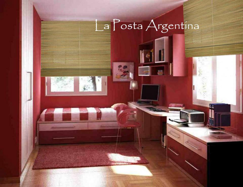 En un dormitorio juvenil nada mas sencillo que una cortina de junco ...