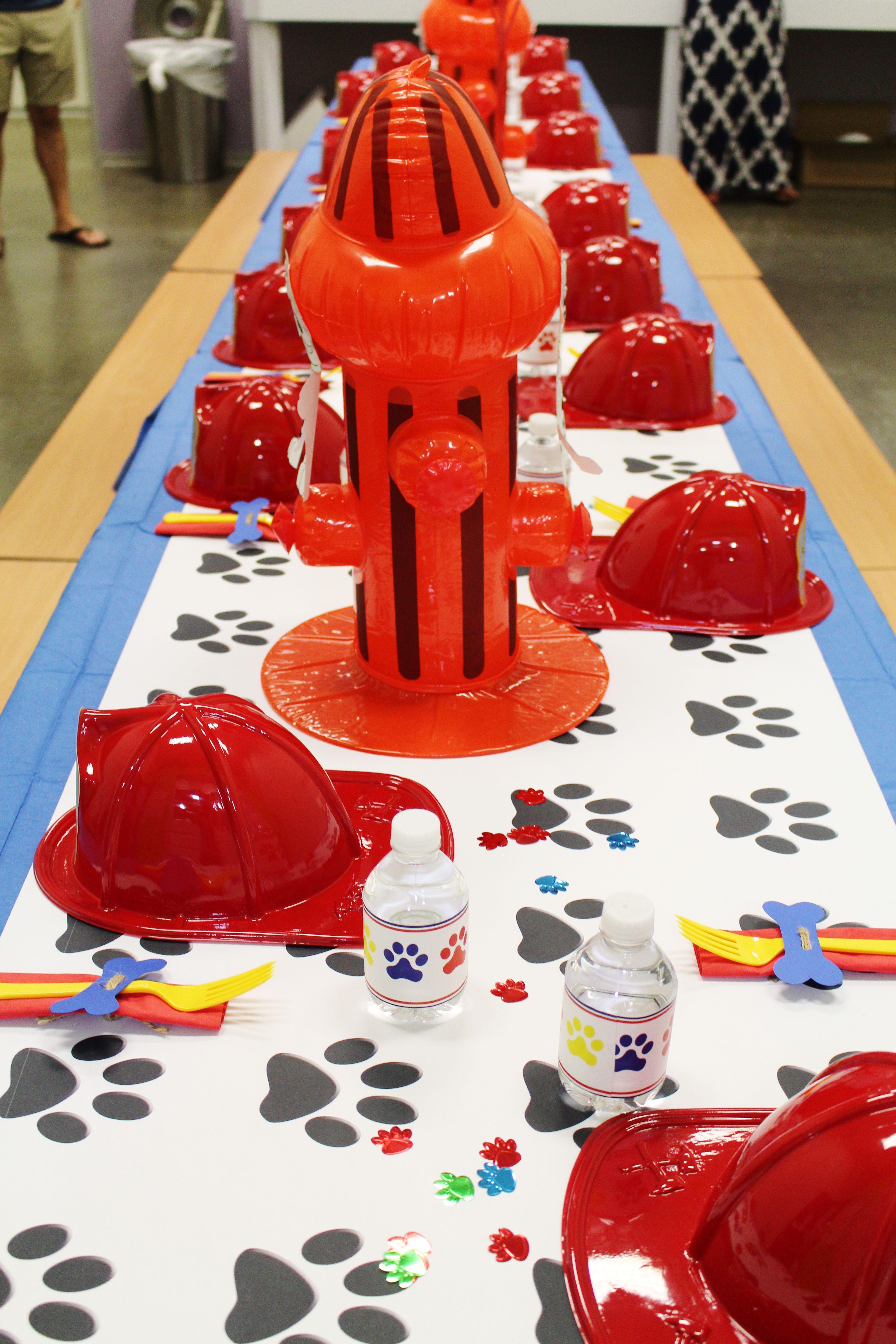 Paw Patrol Party Ideas Decorations Marshall Theme