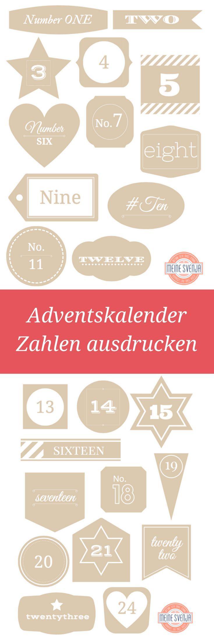Adventskalender zahlen zum ausdrucken printables adventskalender adventskalender zahlen und - Adventskalender basteln vorlagen kostenlos ...