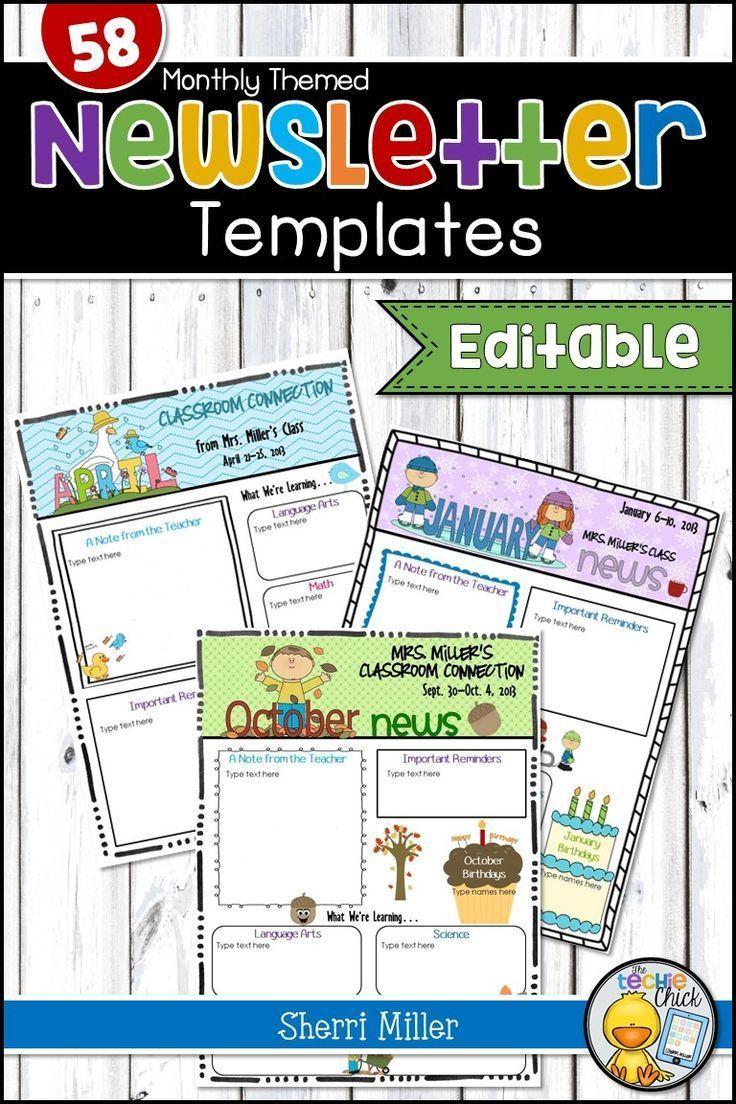 newsletters templates for teachers