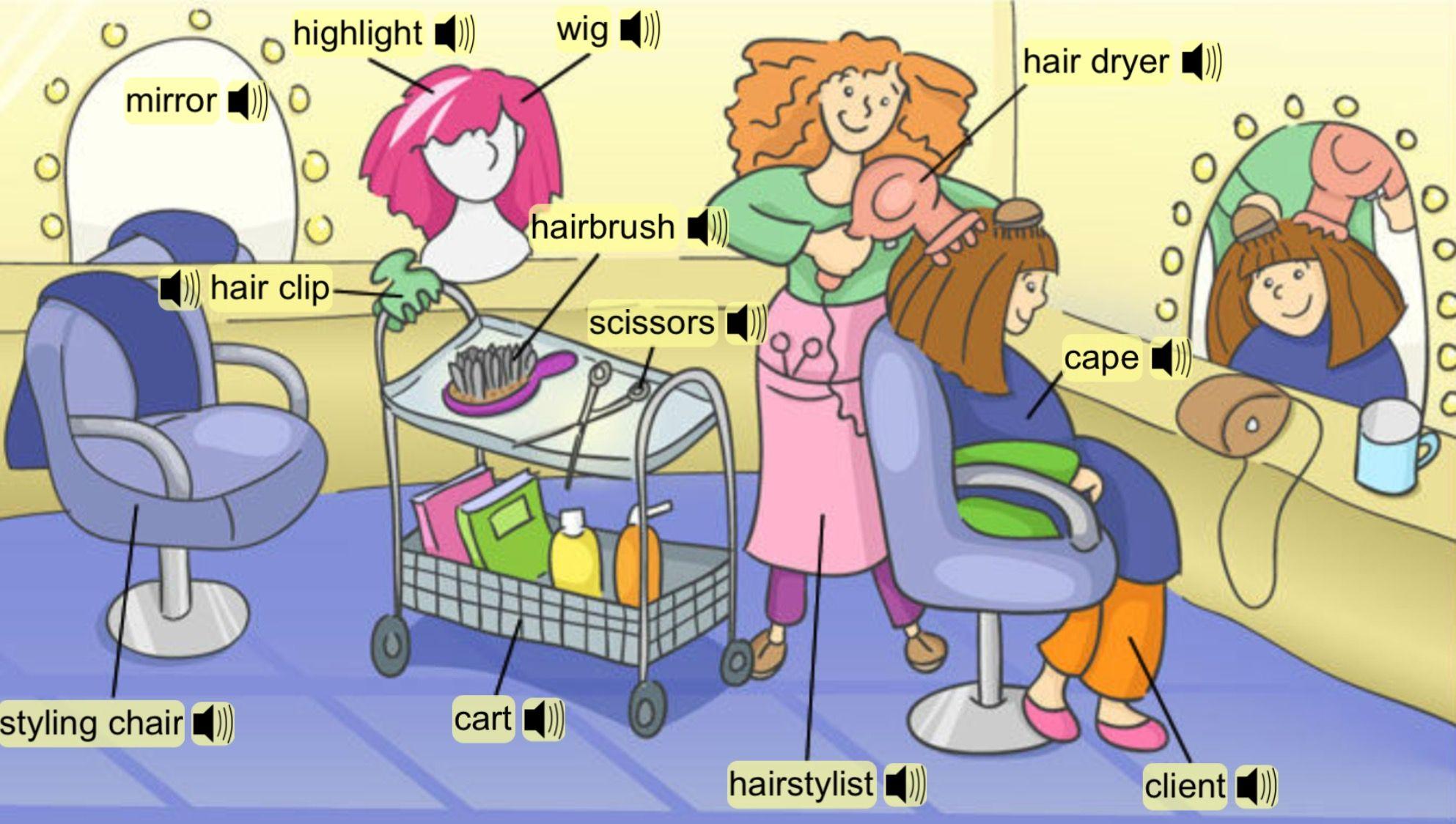 Vocabulary Hair Salon