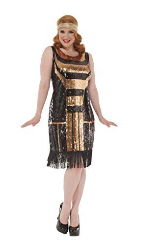 feaaeeeeadd Fashion Bug Womens Plus Size The Great Gatsby Adult Costume 16W - 18W  www.fashionbug.us  PlusSize  Costumes  FashionBug