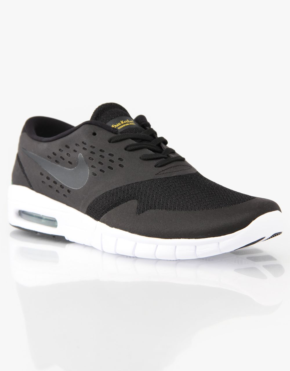 Buy Nike SB Eric Koston 2 Max Shoes - Black/Black-Vrsty Maize-Pn Grn online  today for just from Route One.