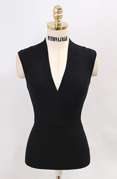 Brand New 2016 Summer Fashion Women V-neck Crop Tops Sexy Tank Tops 4 Color White Black Pink Blue