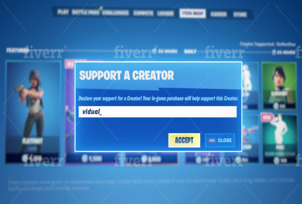 W1happy I Will Create New Best Fortnite Support Creator Code Intro 60fps For 5 On Fiverr Com In 2020 Intro Coding Supportive