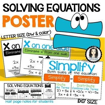 Solving Multi-Step Equations Poster | Equation, Students and Math