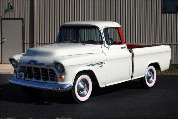 1955 chevrolet cameo custom pickup cars trucks pinterest rh pinterest com