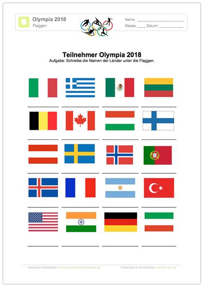 Flaggen Erkennen